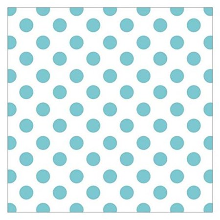 Hello Baby Acetate - Blue Foil Dots, 12 x 12 in.