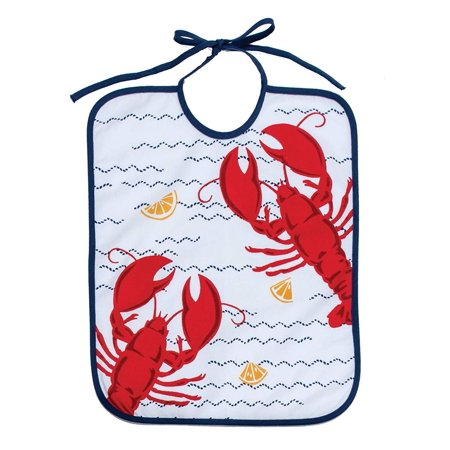 Set of 3 FRESH CATCH Large Lobster Bibs, 100% Cotton, by Kay Dee (Lobster Bib)