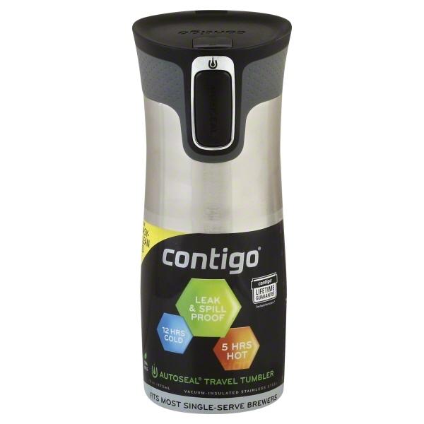 Contigo AUTOSEAL® West Loop 2.0 Stainless Steel Travel Mug, 16 oz. , Stainless