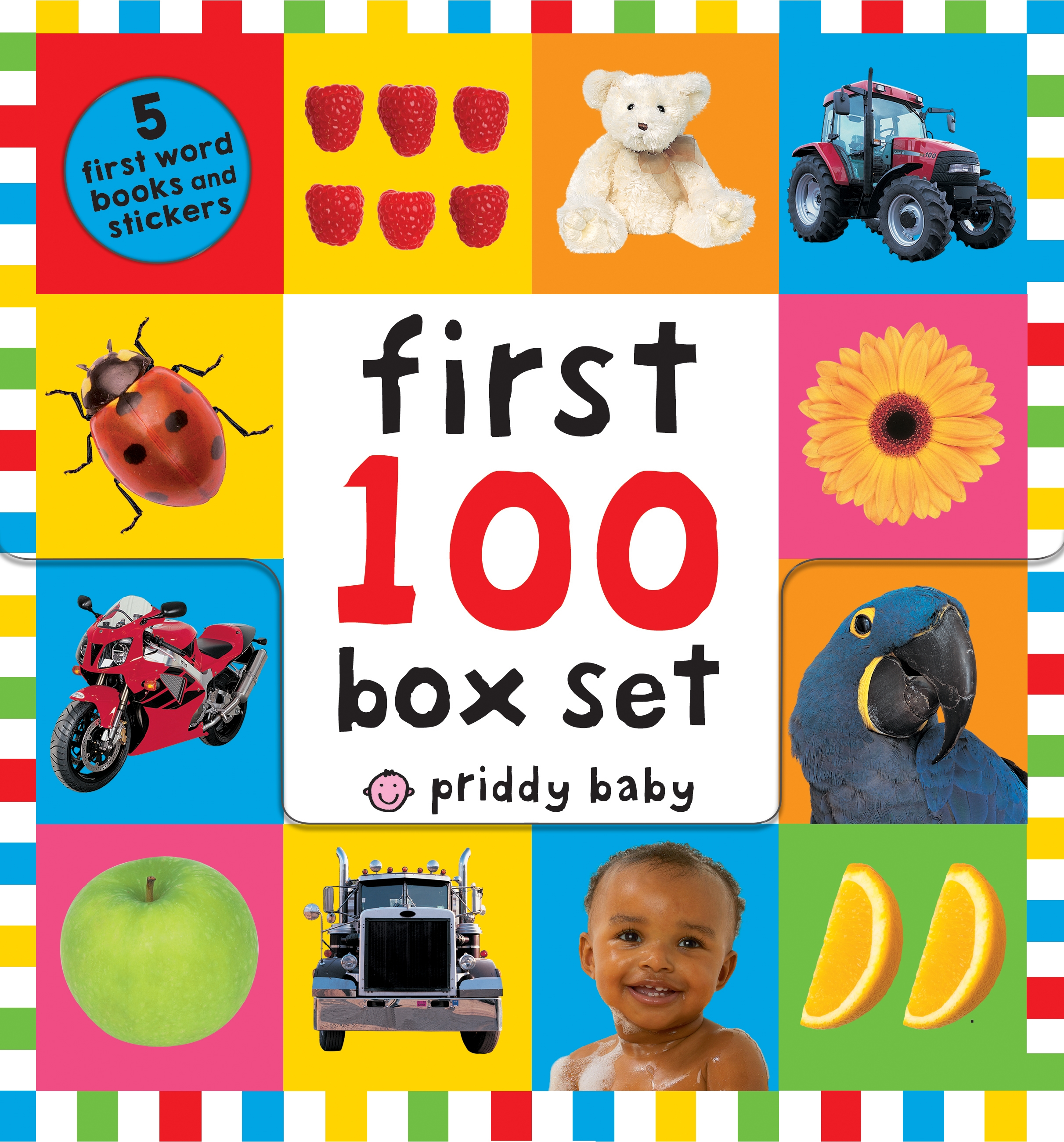 First 100 PB Box Set (5 books) : First 100 Words; First 100 Animals; First 100 Trucks and Things That Go; First 100 Numbers; First 100 Colors, ABC, Numbers