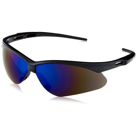 3000358 Nemesis Safety Glasses Black Frame / Blue Mirror Lens, Polycarbonate By Jackson Safety (Outdoor Mirror Safety Glasses)
