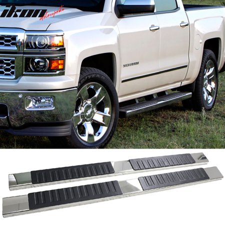 - Fits 04-13 Chevy Silverado Crew Cab OE 6inch Side Step Bar Running Boards Chrome