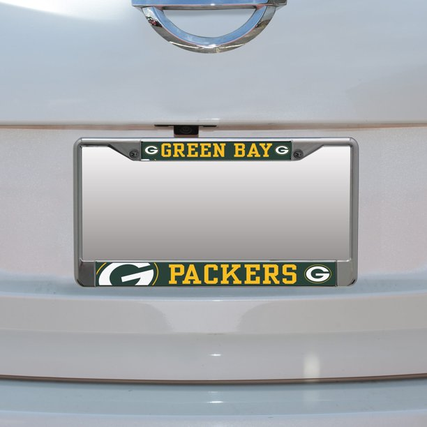 Green Bay Packers Small Over Large Mega License Plate Frame