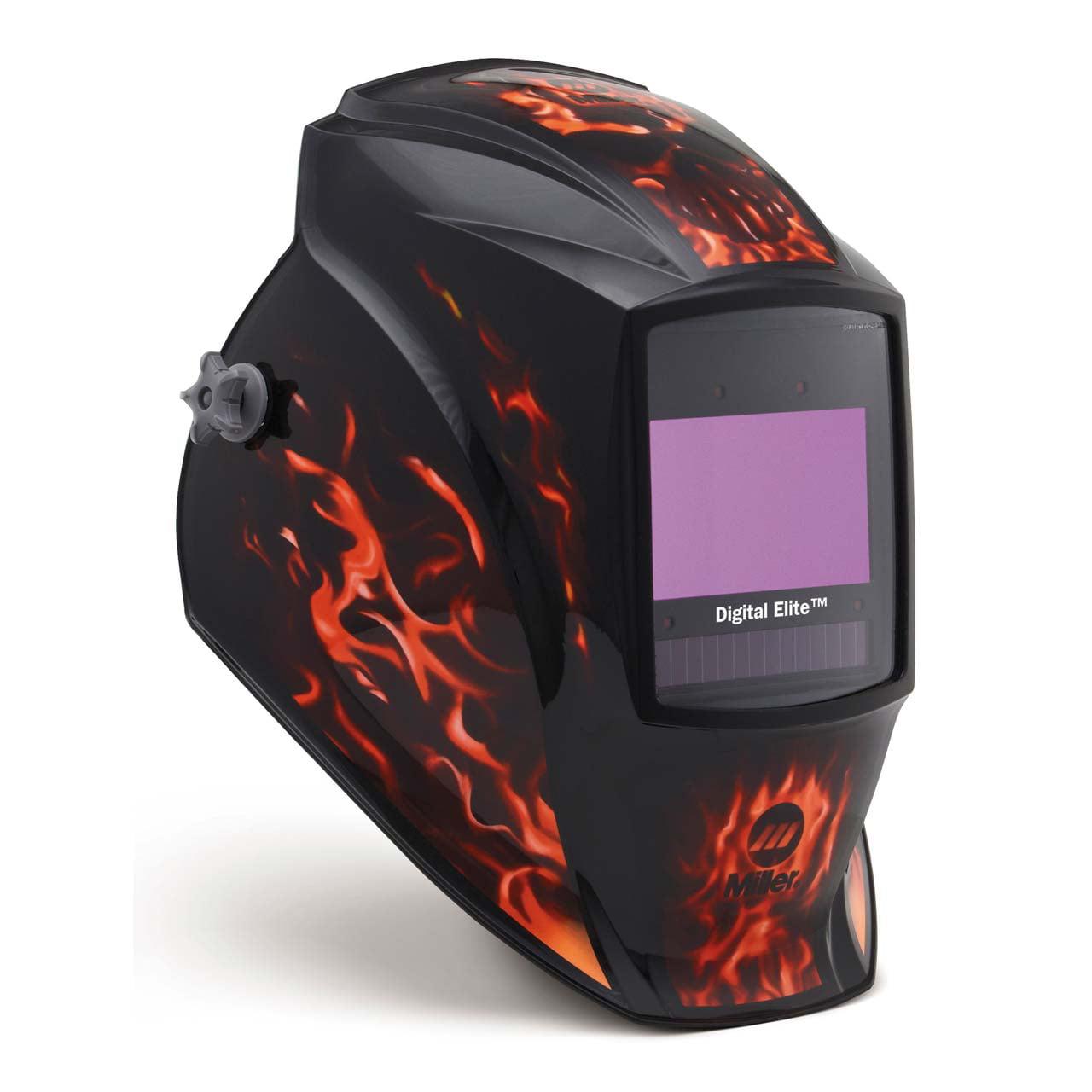 Miller 281003 Digital Elite Welding Helmet with ClearLight Lens, Inferno