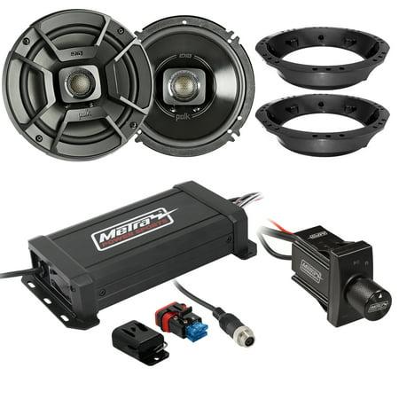 4 Zone Audio Controller Amplifier - Metra PowerSports IPX6 Marine 2-Channel Mini Amplifier, Polk Audio 6.5