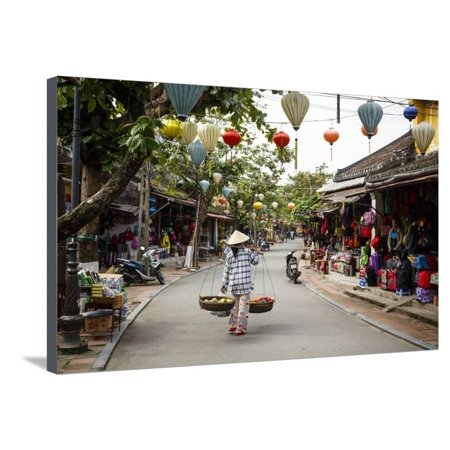 Street Scene, Hoi An, Vietnam, Indochina, Southeast Asia, Asia Stretched Canvas Print Wall Art By Yadid Levy
