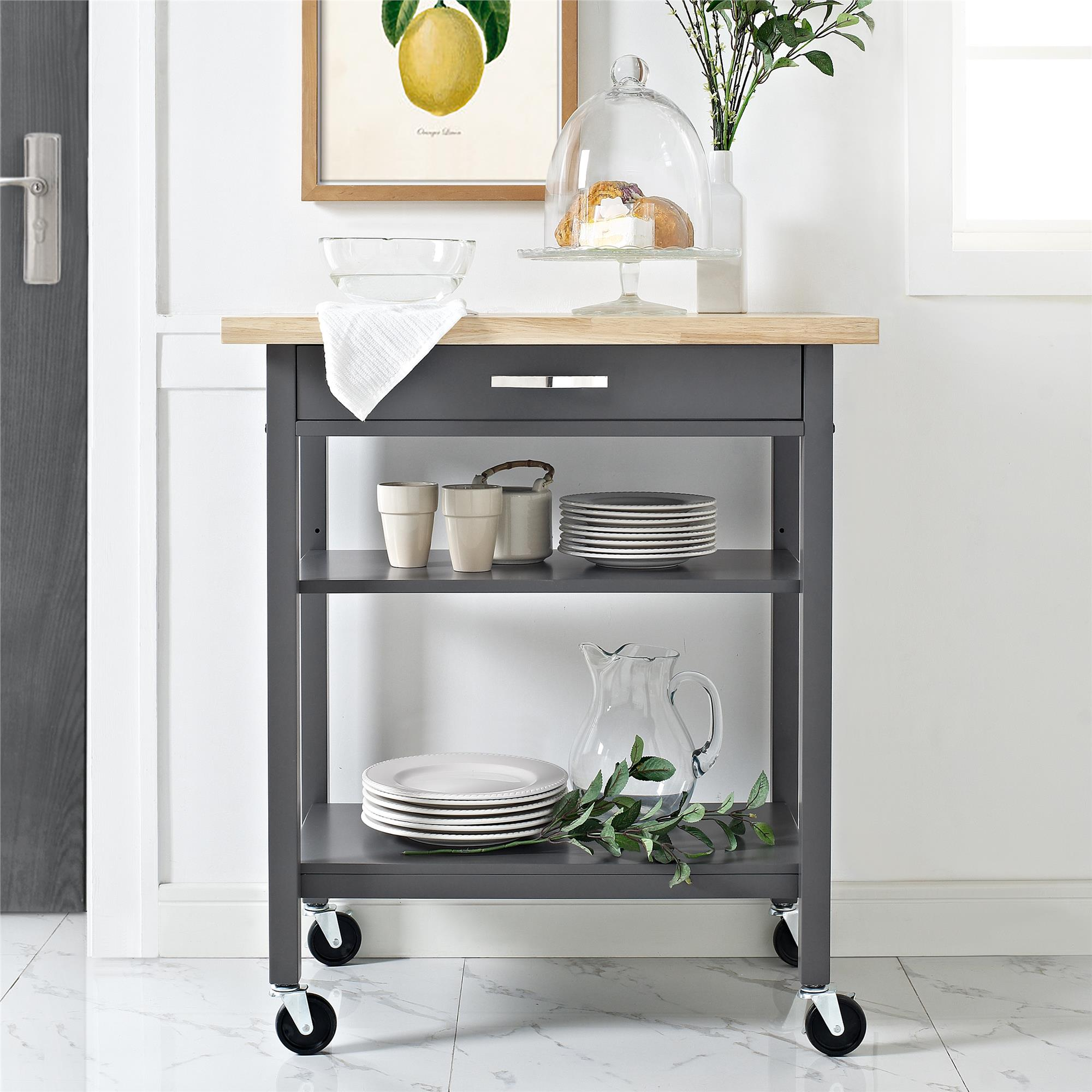 Mainstays Multifunction Kitchen Cart, Multiple Colors