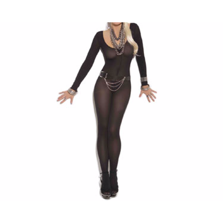 Long Sleeve Body Stocking - Plus Size Bodystocking