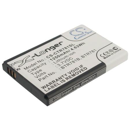 Cameron Sino 1250mAh/4.63Wh Battery Compatible With Casio GzOne Ravine 2,  C781 ()