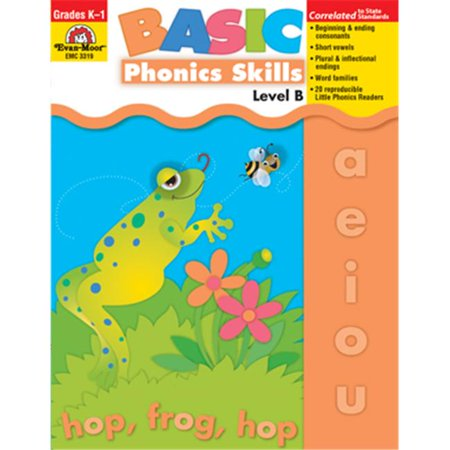 Evan Moor Educational Publishers 3319 Basic Phonics Skills  Level (Evan Moor Activity Books)