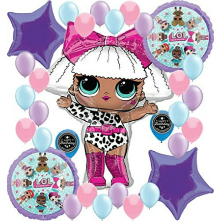 party supplies birthday lol balloons bouquet decorations bundle for (xl supershape diva)](Decoration For Birthdays)