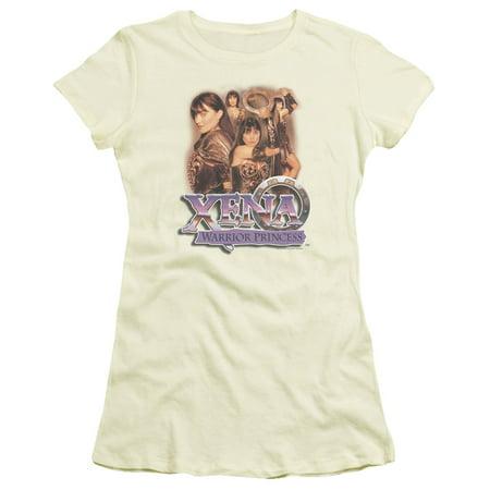 Xena Warrior Princess Princess Collage Juniors Short Sleeve Shirt - Xena Warrior Princess Outfit