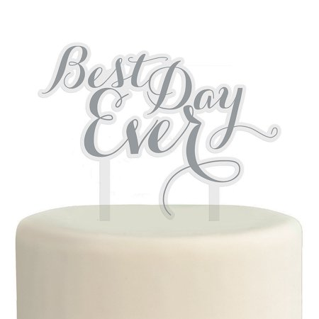 Fun Express - Best Day Ever Cake Topper for Wedding - Home Decor - Gifts - Wedding & Bridal - Wedding - 1 (Best Wedding Gifts Ever)