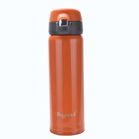 Walled Thermos Vacuum Bottleorange Steel Ozdouble Flask Mug Insulated 16 Proof Beverage Leak Best Travel Coffee Stainless 2WIYEDH9