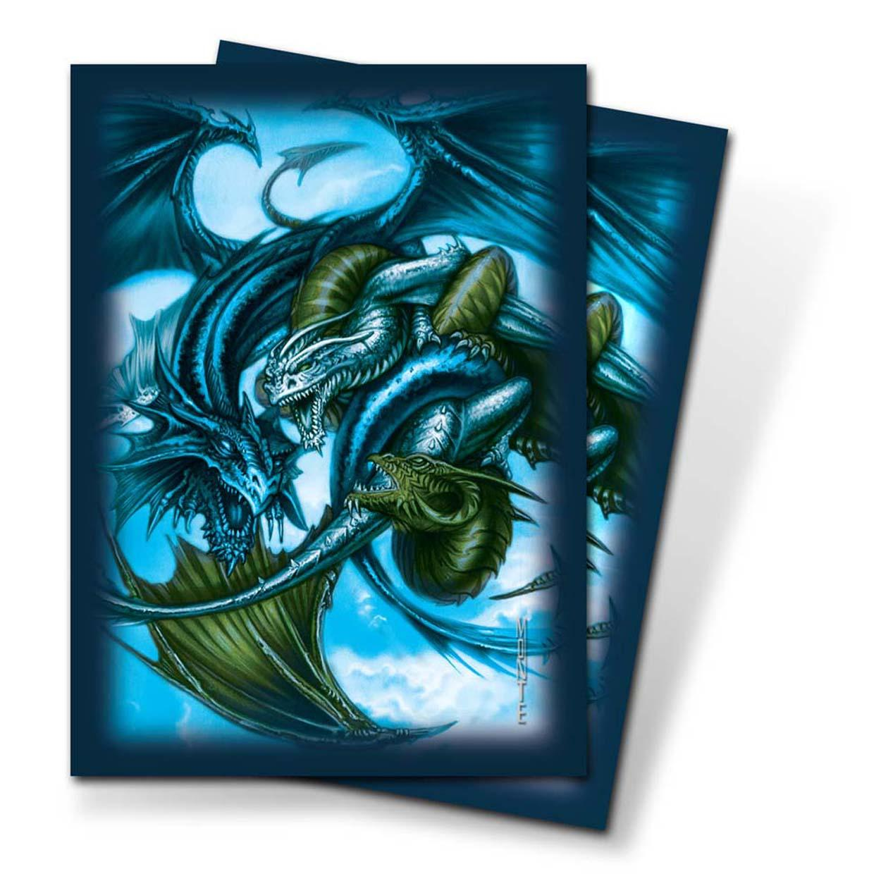 Ultra Pro Trinity Dragon Blue Small-Size Deck Protectors 82701 (60 Sleeves)