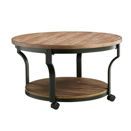 Acme Oak Coffee Table (ACME Geoff Coffee Table, Oak &)