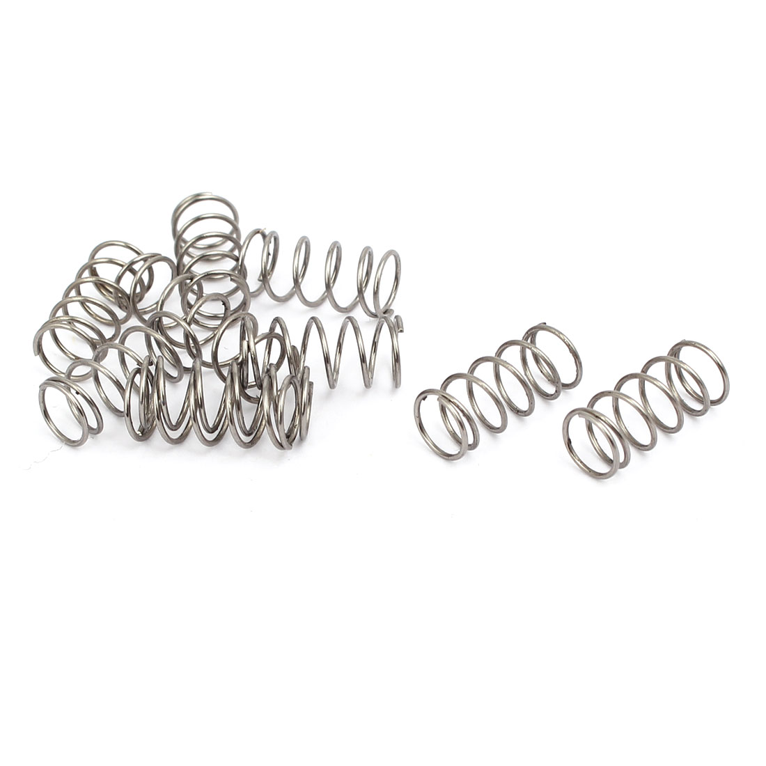 0.6mmx7mmx15mm 304 Stainless Steel Compression Springs Silver Tone 10pcs - image 3 of 3