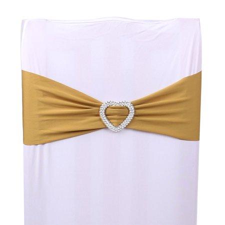 Maison vacances élastique Spandex Décoration Coeur Mariage Banquet Chaises Couverture Moraillon bandes à guillotine - image 1 de 1