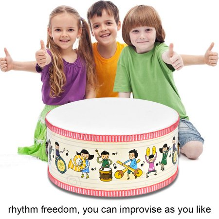 YLSHRF Drum, Wood Hand Drum,Mini Wooden Handheld Hand Drum Musical Percussion Instrument Child Toy Gift Wooden Drum Set