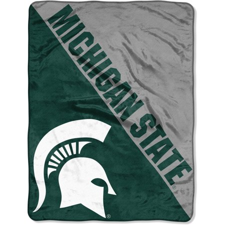 "Michigan State Spartans Gift Box (NCAA Michigan State Spartans ""Halftone"" 46""x 60"" Micro Raschel Throw)"