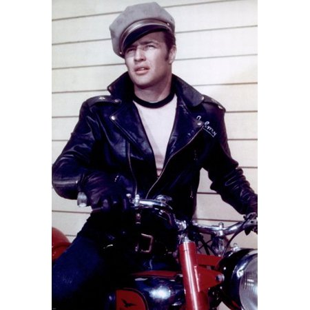 The Wild One Marlon Brando Poster Sexy Unaffected Leather Jacket New 24X36  - Walmart.com 50da8f4672b