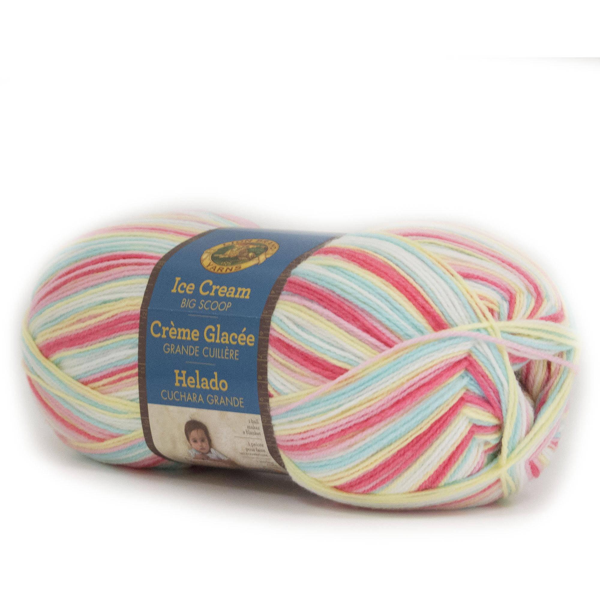 Lion Brand Yarn Ice Cream Big Scoop Single Skein Baby Yarn, Assorted Colors