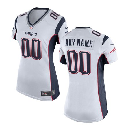 Women s New England Patriots Nike White Custom Game Jersey-L - Walmart.com 104a553f6