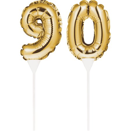 Birthday Balloon Cake Toppers 3 1/2