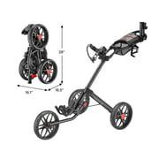 CaddyTek Caddylite 15.3 V2 - Deluxe Quad-Fold Golf Push Cart Version 2, Black