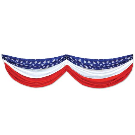 The Holiday Aisle Patriotic Stars and Stripes Fabric Bunting