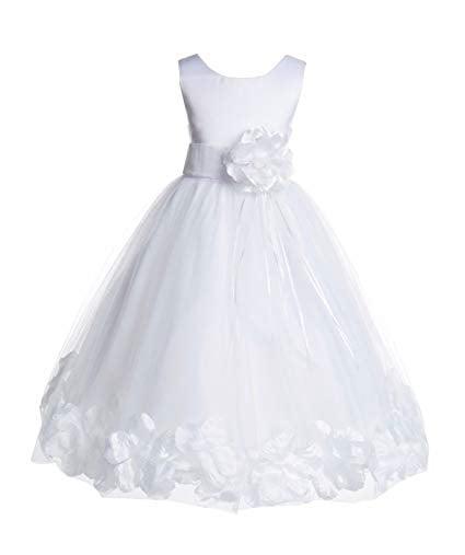 Flower Girls White First Communion Dress Satin Organza Easter Party Wedding New