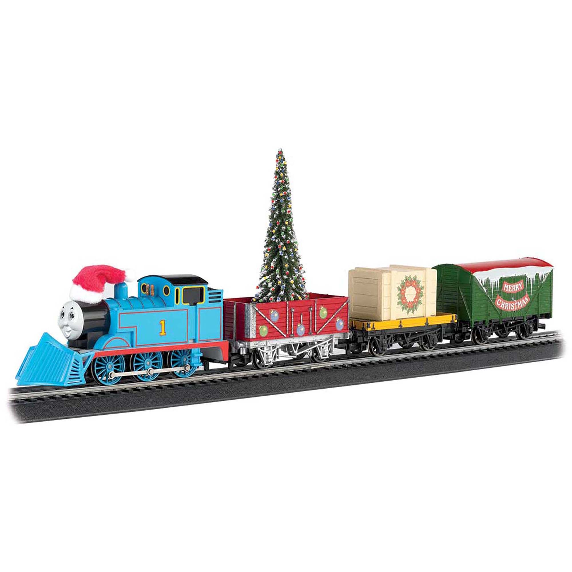 Bachmann Trains Thomas and Friends Thomas' Christmas Express HO Scale Ready-to-Run Electric Train Set by Bachmann Trains