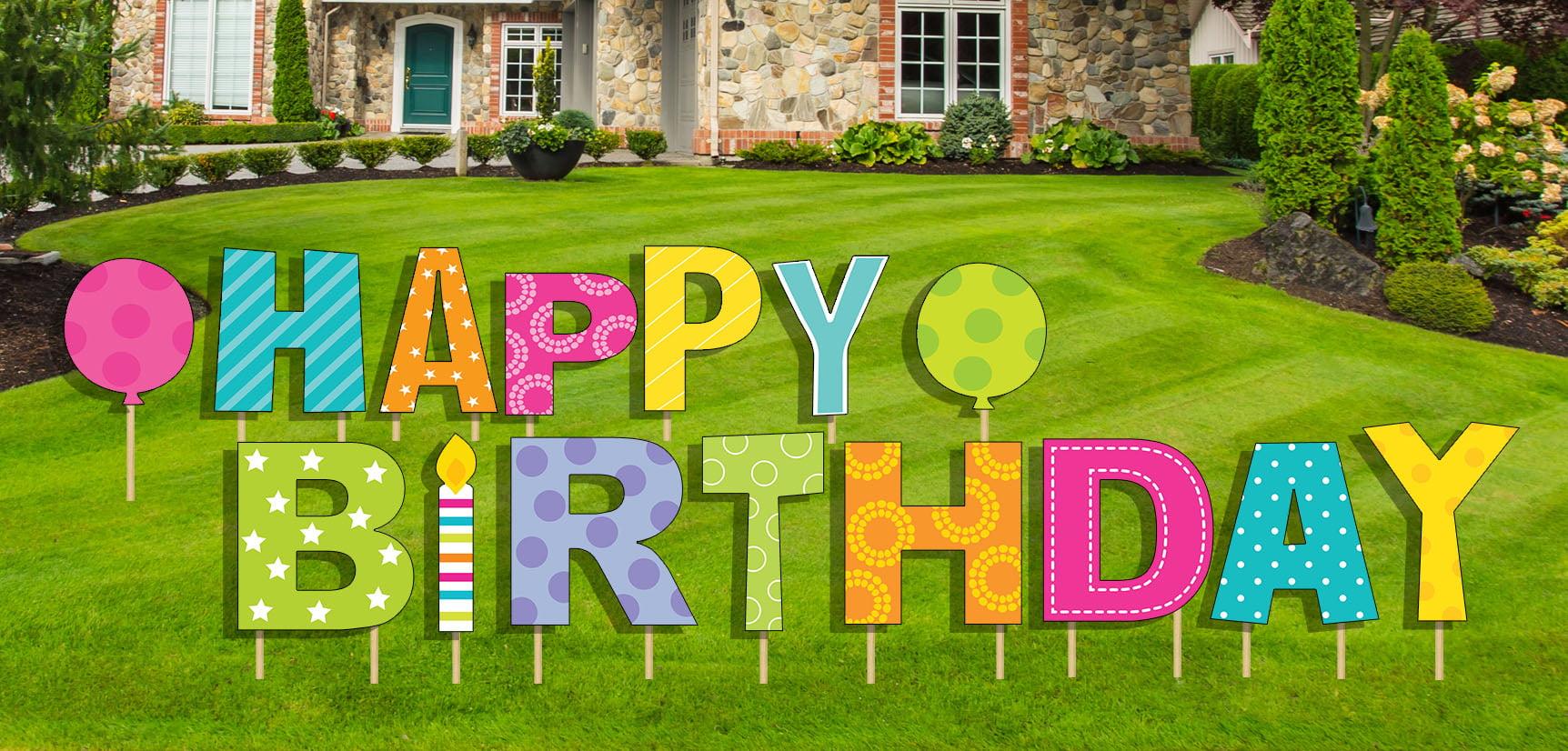 Hy Birthday Yard Sign 15 Pcs