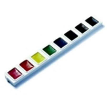 Plastic Half Strip (Non-Toxic Semi-Moist Watercolor Paint Refill Strip Set, Plastic Half Rectangular Pan, Set - 3 )