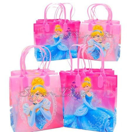 12 Cinderella Party Favor Bags Birthday Candy Treat Favors Gifts Plastic Bolsas De Recuerdo](Cinderella Birthday Party)