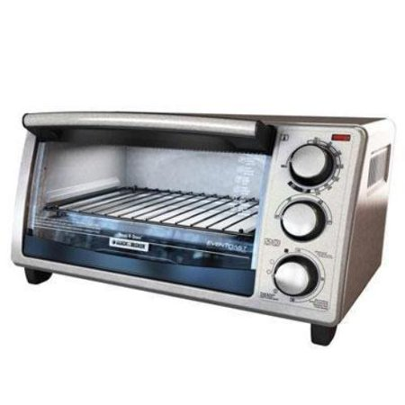 Black & Decker 4-slice Countertop Convection Toaster Oven Toast, Cooking, Broil, Reheat, Bake, Keep Warm... by