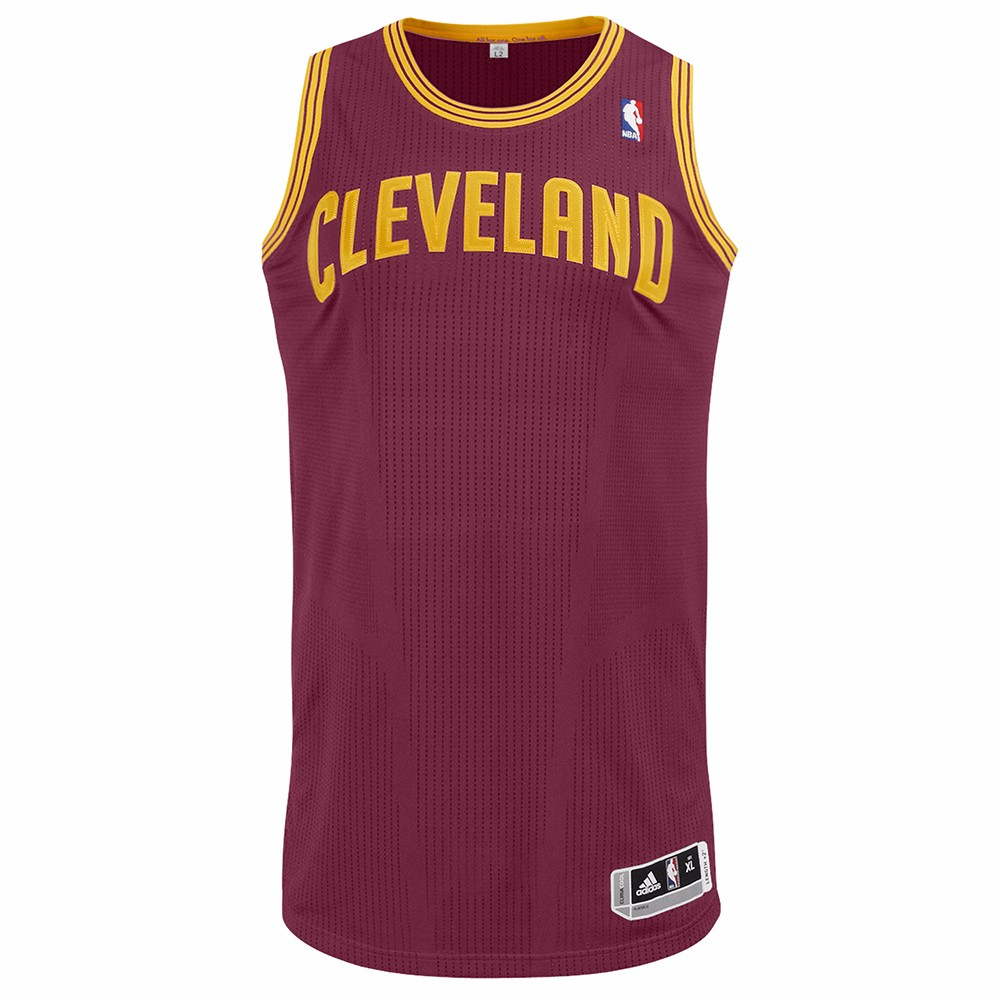 Cleveland Cavaliers NBA Adidas Maroon Authentic On-Court Team Issued Pro Cut Jersey For Men