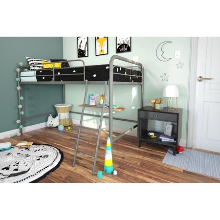 DHP Junior Metal Loft Bed, Twin Size, Multiple Colors ()