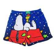 Snoopy and Woodstock Men's Christmas Boxer