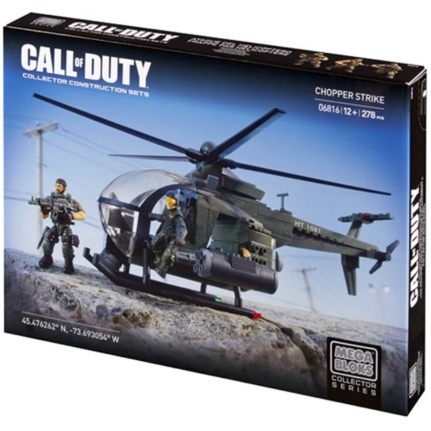Mega Bloks Call Of Duty Chopper Strike Building Set Walmart Com Walmart Com