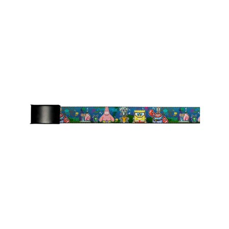 Spongebob Cartoon TV Series Pixel Characters Web Belt (Dash Cartoon Character)
