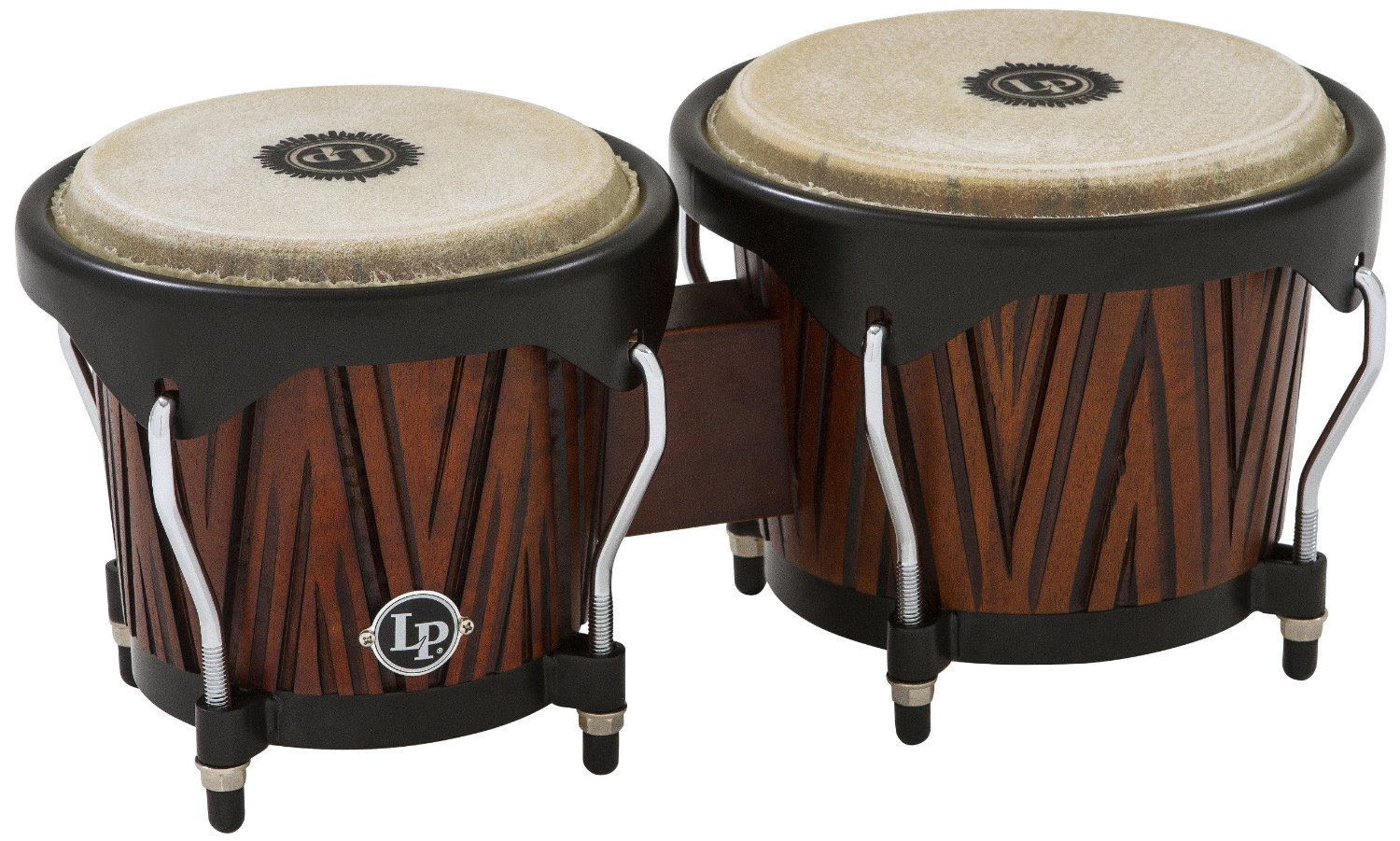 Latin Percussion City Bongos Carved Mango Mahogany Wood by LP