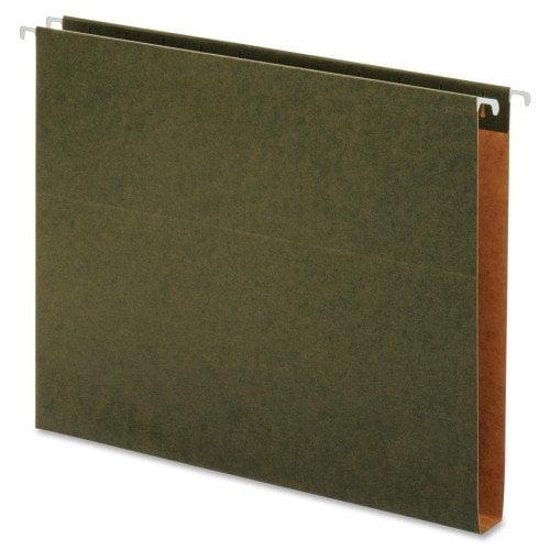 "Globe-weis Green Hanging Box Bottom Folders - Letter - 8.50"" X 11"" - 1"" Expansion - 1/5 Tab Cut - 11 Pt. - Pressboard - Green - 25 / Box (GLW65239)"