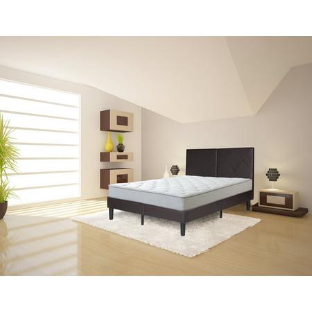Granrest Dura Metal Faux Leather Platform Bed Frame