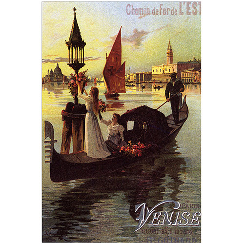 "Trademark Fine Art ""Venise II"" Canvas Art, 35x47"