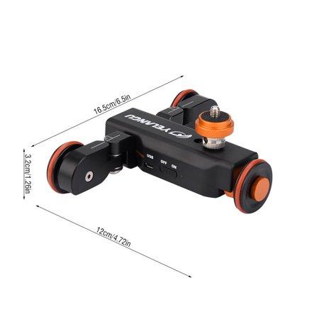 Mini Motorized Video Slider Electric Rolling 3-Wheel Dolly Pulley Car Skater for DSLR Camera Camcorder Smartphone - image 2 de 8