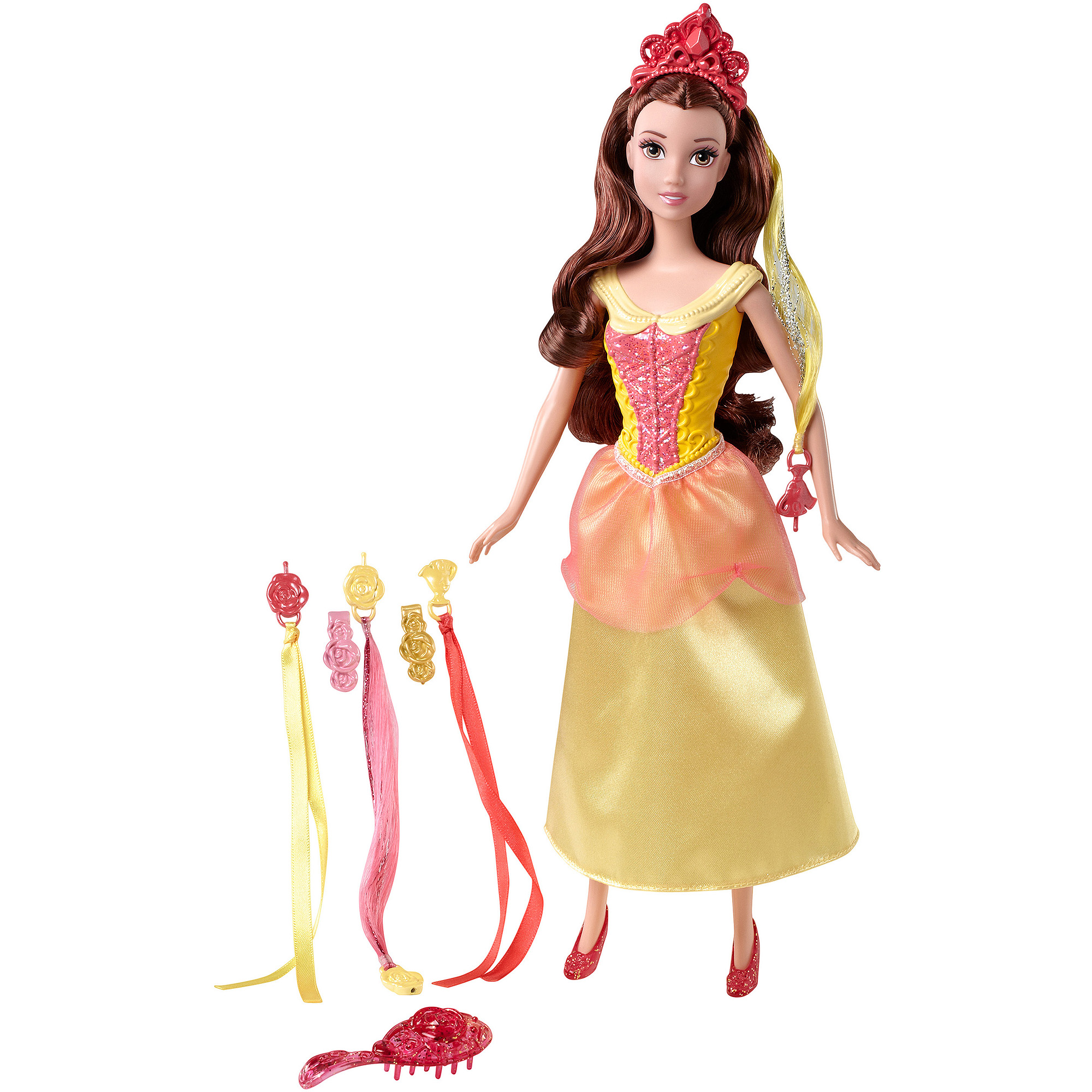 Disney Basic Hairplay Belle Doll with Hair Accessories