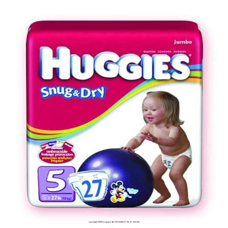 Kimberly-clark Huggies Snug & Dry Disposable Diapers, Hug...