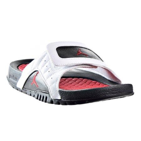 0b58606f9fc764 Jordan Retro 12 Hydro Big Kids Sandals White Infrared Black820267-131 -  Walmart.com