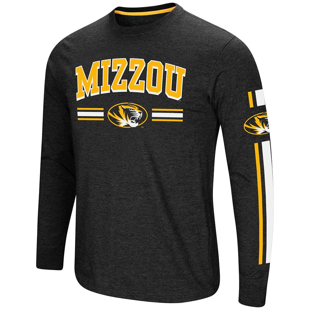 """Missouri Tigers NCAA """"Touchdown"""" Men's Dual Blend Long Sleeve T-Shirt"""